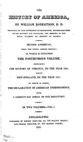 The History of America: Volumes 1-2