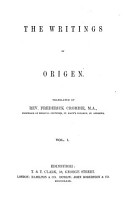 The Writings of Origen PDF