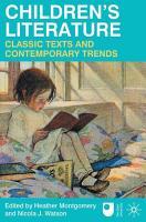 Children s Literature  Classic Texts and Contemporary Trends PDF