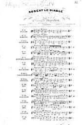 Robert le diable: opéra en 5 actes ; catalogue thématique des morceaux détachés avec accompt. de guitare. Evocation, Volume 15