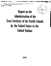 Report on the Administration of the Trust Territory of the Pacific Islands PDF