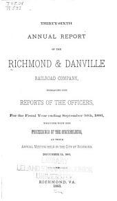 Annual Report ...: Volume 36