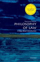Philosophy of Law PDF