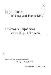 Derechos de Importación en Cuba Y Puerto Rico