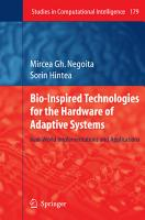 Bio Inspired Technologies for the Hardware of Adaptive Systems PDF