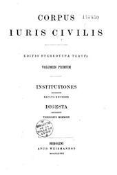 Corpus juris civilis: Volume 1