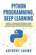 Python Programming  Deep Learning PDF