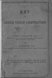 Key to Greek verse composition, by A. Sidgwick and F.D. Morice