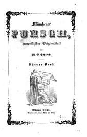Münchener Punsch, humoristisches originalblatt von M.E. Schleich: Band 4