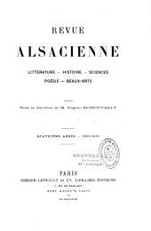 Revue alsacienne: littérature, histoire, sciences, poésie, beaux-arts