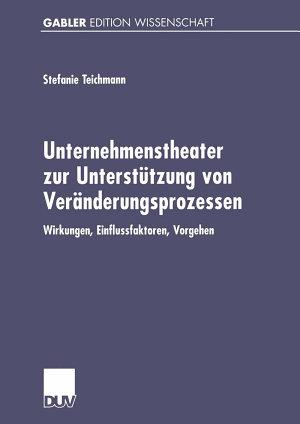 Unternehmenstheater zur Unterst  tzung von Ver  nderungsprozessen PDF