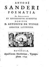 Poematia ad. Antonium De Winge