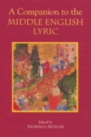 A Companion to the Middle English Lyric PDF