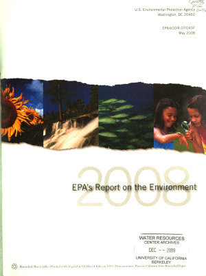 EPA s 2008 Report on the Environment PDF