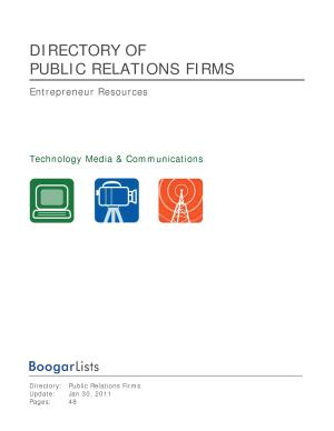 BoogarLists   Directory of Public Relations Firms PDF