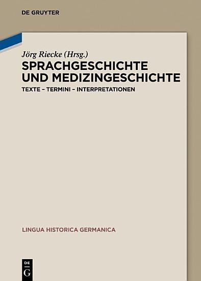 Sprachgeschichte und Medizingeschichte PDF