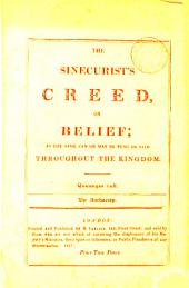 The sinecurist's creed, or belief [a parody on the Athanasian creed, by W. Hone].