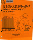 Energy Conservation Design Manual for New Nonresidential Buildings