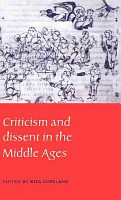 Criticism and Dissent in the Middle Ages PDF