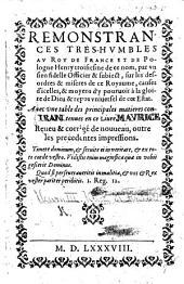 Rémonstrances treshumbles au Roy ... par un sien fidelle Officier&subject [N. Rolland] sur les Désordres&misères de ce Royaume, etc