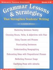Grammar Lessons and Strategies That Strengthen Students  Writing PDF