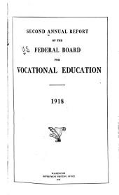 Annual Report to Congress of the Federal Board for Vocational Education