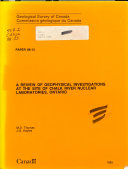 A Review of Geophysical Investigations at the Site of Chalk River Nuclear Laboratories  Ontario PDF