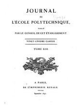 Journal de l'École polytechnique: Volume13,Numéro21