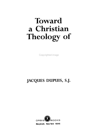 Toward a Christian Theology of Religious Pluralism PDF