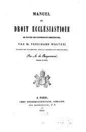 Manuel du Droit Ecclesiastique de toutes les confessions chretiennes