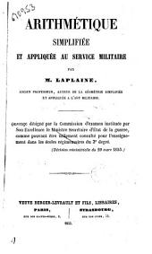 Arithmètique simplifiée et appliquée au service militaire par M. Laplaine