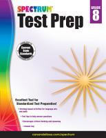 Spectrum Test Prep Grade 8