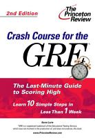 Crash Course for the GRE PDF
