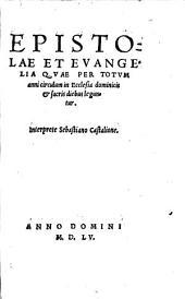 Epistolae et Evangelia ...