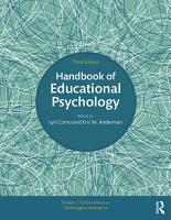 Handbook of Educational Psychology PDF