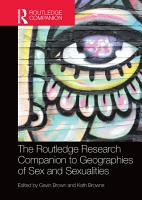 The Routledge Research Companion to Geographies of Sex and Sexualities PDF