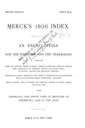 Merck s 1896 Index PDF