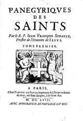 Panégyriques des Saints: Volume1