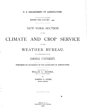 New York State Weather Bureau ... Report for the Month of ...