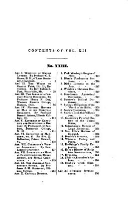 The Biblical repositor  and quarterly observer   afterw   The American biblical repository  afterw   The biblical repository and classical review  conducted by E  Robinson   With  General index  January 1831 October 1844