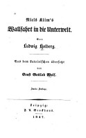 Niels Klim s Wallfahrt in die Unterwelt PDF