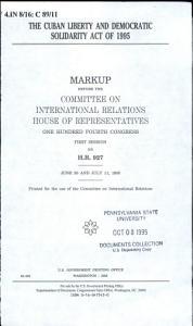The Cuban Liberty and Democratic Solidarity Act of 1995 PDF