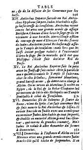 Histoire des Juifs, écrite par Flavius Joseph, sous le titre de Antiquitez judaiques. Traduite sur l'original grec, revû sur divers manuscrits, par M. Arnauld d'Andilly