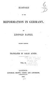 History of the Reformation in Germany: Volume 2