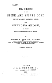 Injuries of the Spine and Spinal Cord Without Apparent Mechanical Lesion, and Nervous Shock: In Their Surgical and Medico-legal Aspects