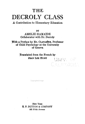 The Decroly Class Book PDF