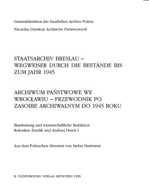 Staatsarchiv Breslau PDF