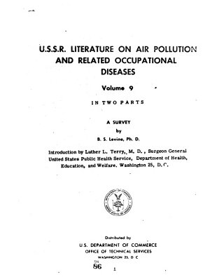 Survey of U S S R  Literature on Air Pollution and Related Occupational Diseases PDF