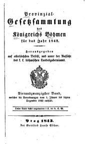 Provincial-gesetzsammlung des Königreichs Bömen: Band 24