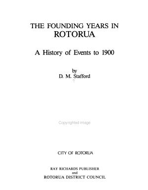 The Founding Years in Rotorua PDF